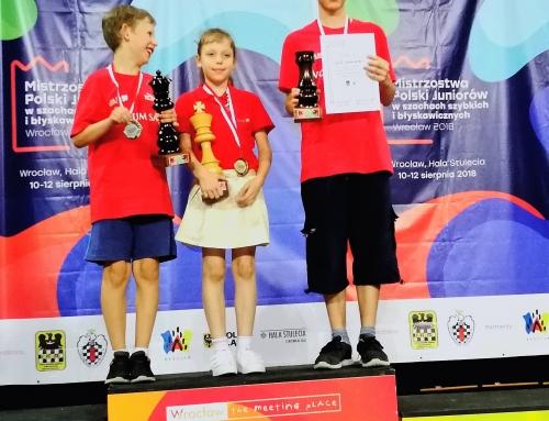 Mistrzostwa Polski Juniorów w Szachach Błyskawicznych – zdobywamy 5 medali!