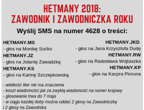 Hetmany 2018 – głosujemy na Jolę!!