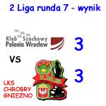 Klub Szachowy Polonia Votum II Wrocław vs LZS Chrobry Gniezno wynik 3-3